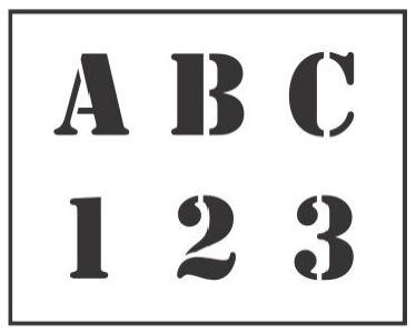Letter Stencil and Number Stencils : National Stencil